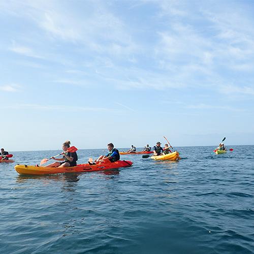 Rando kayak de mer encadrée par le camping Le Suroît de Trégunc
