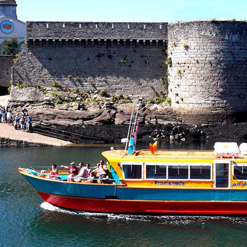Balade en bateau à Concarneau avec popeye