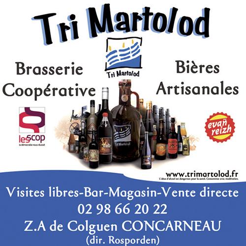 Affiche de la brasserie artisanale Tri Martolod à Concarneau